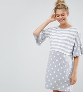 Asos Maternity - Nursing Asos Maternity Nursing Stripe & Spot Night Tee