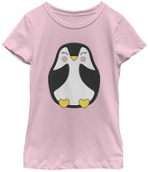 Fifth Sun Pink & Gold Penguin Crewneck Tee - Toddler & Girls