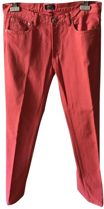A.P.C. Red Cotton - elasthane Jeans