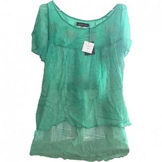 Antik Batik Turquoise Silk Top for Women