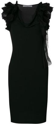 Givenchy Ruffle Strap Shift Dress