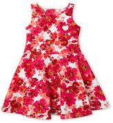 juicy couture (Toddler Girls) Fuchsia Floral Fit & Flare Ponte Dress