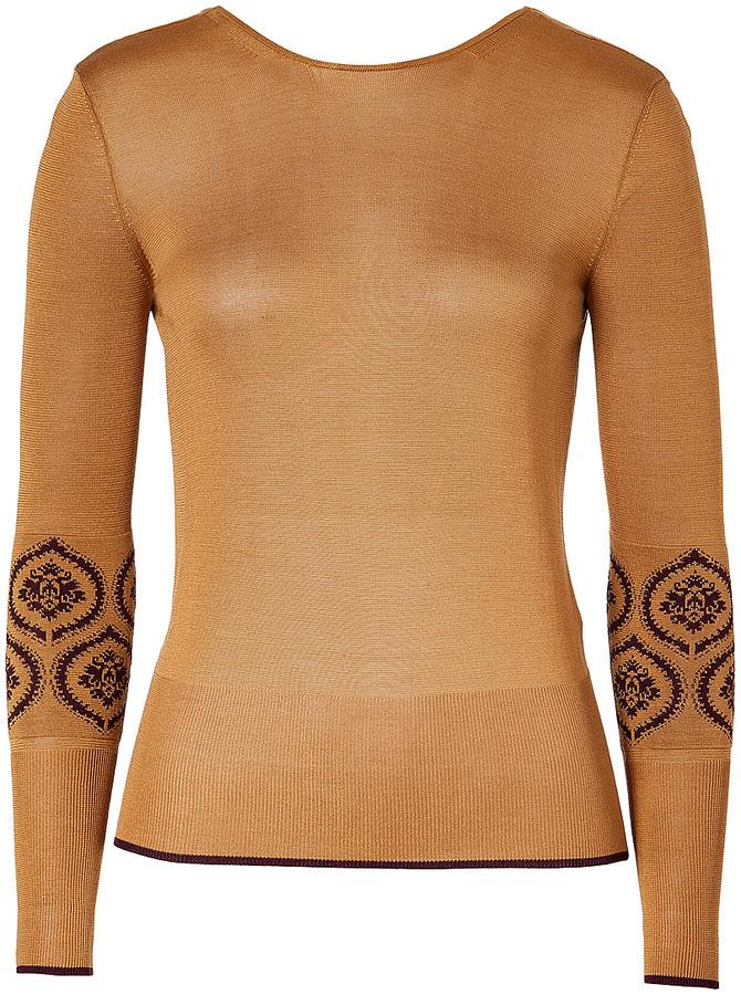 Sophie Theallet Gold Fine Knit Backless Top