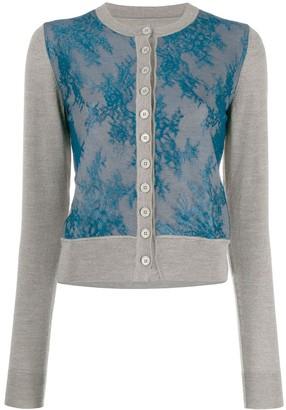 MM6 MAISON MARGIELA Lace Front Cardigan