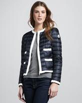 Moncler Flavienne Contrast Puffer Coat