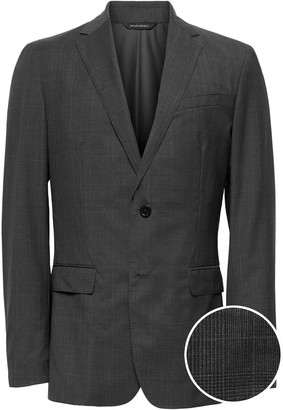 Banana Republic Standard Italian Wool Plaid Suit Jacket