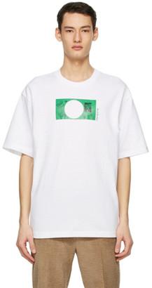 Acne Studios White Dizonord Edition Printed T-Shirt