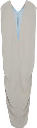 Rick Owens Dagger Tulle-trimmed Crepe Maxi Dress