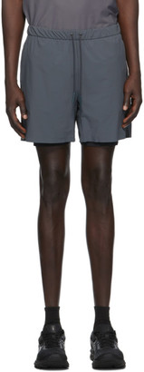 JACQUES Grey and Black Compression Shorts
