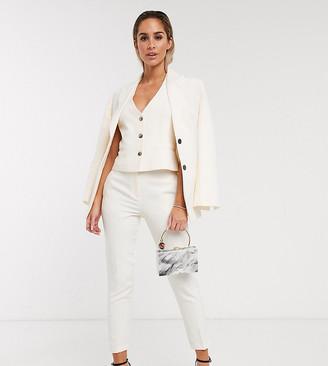 ASOS DESIGN pop slim suit trousers in ivory