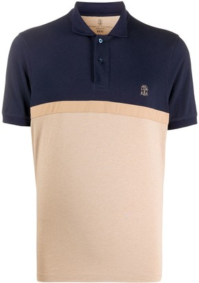 Brunello Cucinelli Colour-Block Polo Shirt