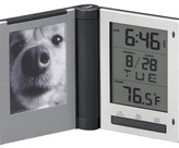 Travel Alarm Clock with Picture Frame