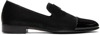 Giuseppe Zanotti Black Snake Emerson Loafers