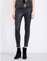 Free People Skinny high-rise stretch-vegan-leather leggings