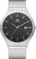 Danish Design Men's 40mm Silver-Tone Titanium Bracelet & Case Quartz Dial Analog Watch IQ63Q985