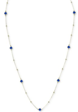 """Argentovivo Crystal Bead 36"""" Statement Necklace in Gold-Plated Sterling Silver"""