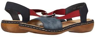 Rieker 659Q9 Regina Q9 (Jeans/Pazifik) Women's Shoes