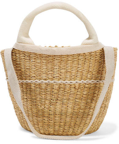 Muun Elisa Straw And Cotton-canvas Tote - Cream