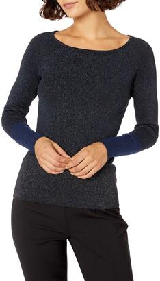 Ellen Tracy Women's Size Colorblock Ribbed Sweater