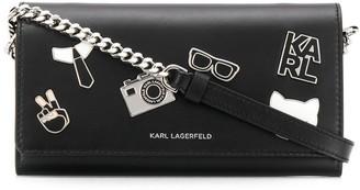 Karl Lagerfeld Paris K/Studio pin crossbody wallet