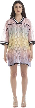 Marco De Vincenzo Gradient Effect Lace Dress