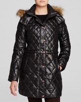 Andrew Marc Kava Faux Fur Trim Quilted Puffer Coat