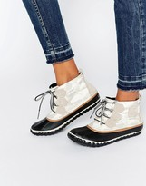 Sorel Out N About Canvas Lace Up Ankle Boots