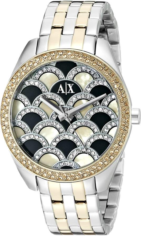 Armani Exchange A|X  Women's AX5530 Analog Display Analog Quartz Two Tone Watch