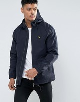 Lyle & Scott Cotton Parka Jacket Eagle Logo in Navy