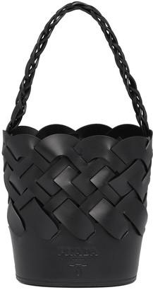 Prada Large Woven Motif Bucket Bag