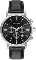 Bulova Mens Black Strap Watch-96b262