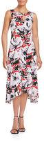 Taylor Floral Asymmetric Midi Dress
