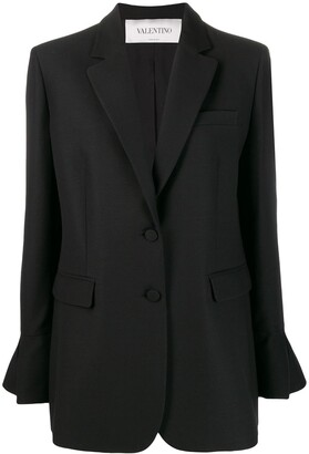 Valentino Ruffled Sleeve Blazer