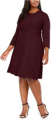 Jessica Howard Plus Size Textured Sweater Dress
