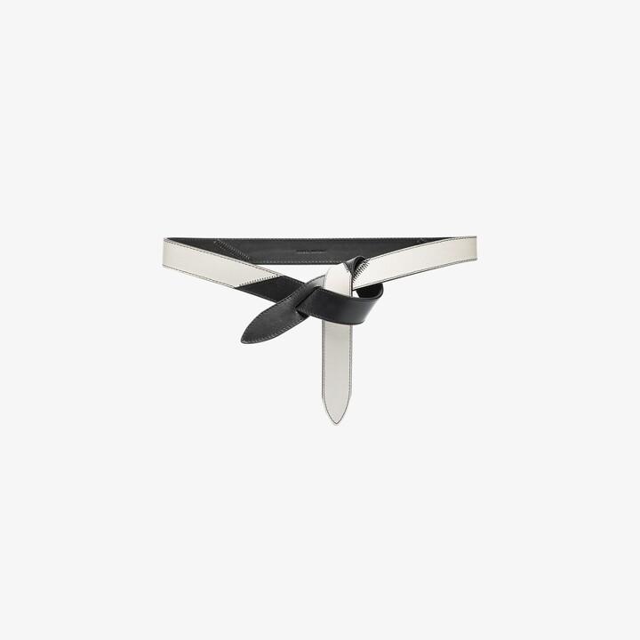 Isabel Marant black and white Lecce leather belt