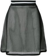 Moschino layered sheer A-line skirt