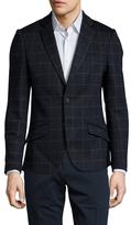 Antony Morato Windowpane Notch Lapel Sportcoat