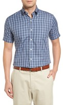 Peter Millar Men's Regular Fit Short Sleeve Stormy Plaid Sport Shirt