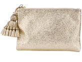 Anya Hindmarch metallic (Grey) tassel clutch bag
