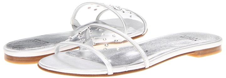 Stuart Weitzman Bridget (Silver Nappa) - Footwear