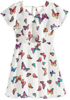 Sequin Hearts Butterfly-Print Dress, Big Girls