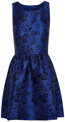 Jack Wills Dervean Jacquard Fit & Flare Dress