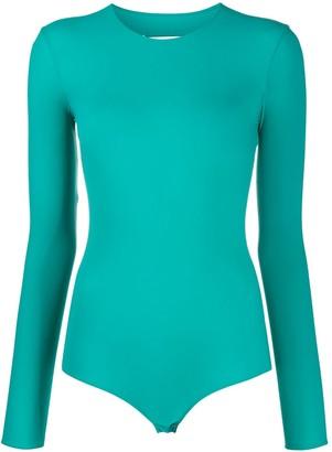Maison Margiela Long-Sleeved Stretch Bodysuit