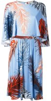 Emilio Pucci feather print dress - women - Silk/Viscose - 42