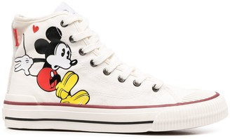 Moa Master Of Arts Mickey Mouse-print hi-top sneakers