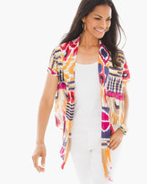 Chico's Blocked Ikat Cardigan