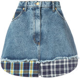 Natasha Zinko patchwork denim skirt - women - Cotton - 34