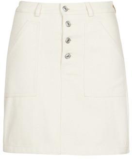 Betty London MOUSSE women's Skirt in Beige