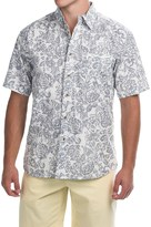 Vintage 1946 Washed Poplin Shirt - Button Front, Short Sleeve (For Men)