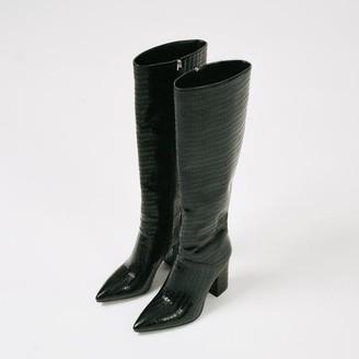 Collection & Co - Carina Boot Black Croc - 36 / Black